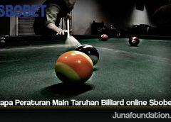 Beberapa Peraturan Main Taruhan Billiard online Sbobet